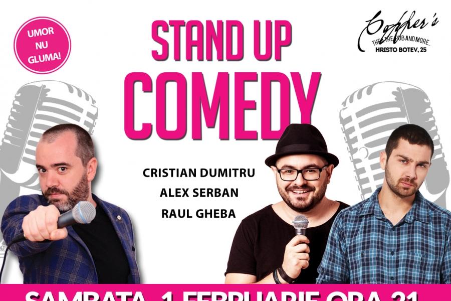 Stand-Up Comedy Bucuresti 1 Februarie 2020 in Copper's Pub