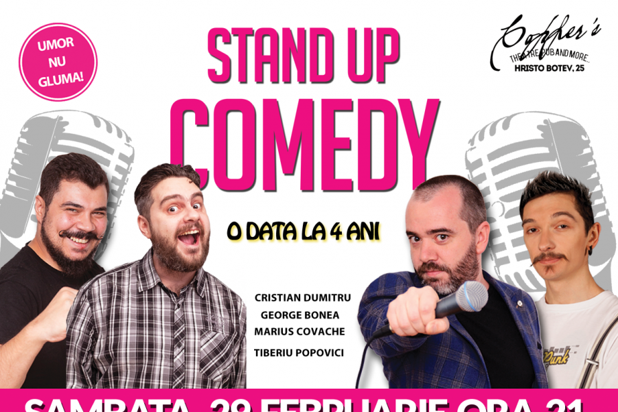 Stand-Up Comedy Bucuresti Sambata 29 Februarie in Copper's Pub